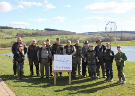 Anglers who took part in the Troutmasters fish off this weekend