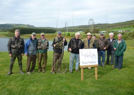 Some of the Members of the Oddfellows Angling Club who held a friendly competition at Thrunton this weekend