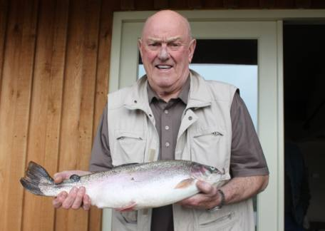 J. Hetherington from Winlaton with one his two fish for 8lb 11oz landed on a diawl bach