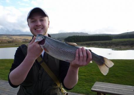 Euan Fairwether from Rohbury with his first ever Thrunton rainbow. Well done Euan