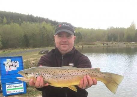 Dicky Bean from Chopwell landed this estimated 6-8lb brown from Coe Crag