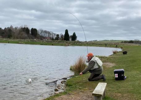 Rob Hall netting one of his twenty fish on Saturday