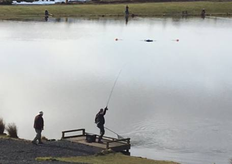 An angler landing their first fish during the AT TEFF northern Bank eliminator