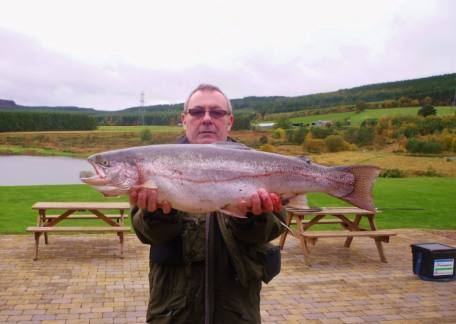 Trevor Brown from Nisbet netted this 10lb 10oz rainbow from Coe Crag on a dawsons olive
