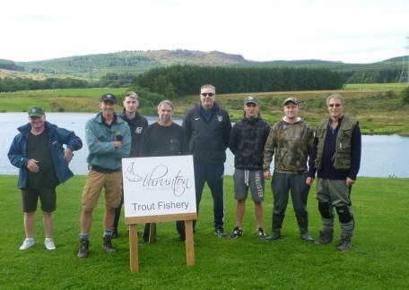 Neil Richardson and a group of friends who enjoyed their days fishing at Thrunton