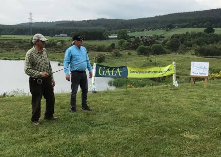 One of the anglers who received some instruction from The GAIA instructors who were at Thrunton