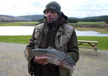 Phil Stone from Chester-le-Street landed this 4lb 6oz rainbow from Coe Crag on a cats whisker