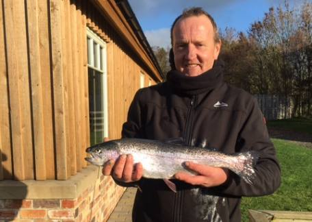 Graham Stephenson landed this 4lb Rainbow from Coe Crag using a Pink Lure