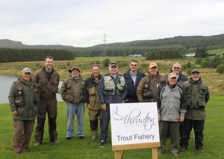 Members of the Eyewater Angling Club who enjoyed their friendly competition at Thrunton