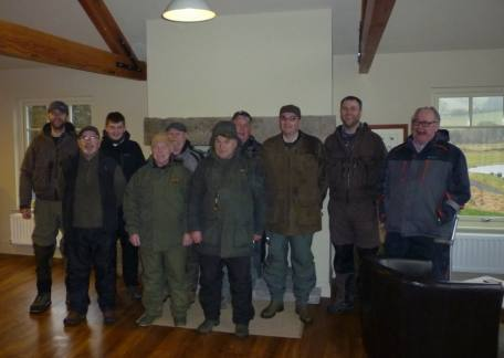 Members of The Eyewater Angling Club who fished their first outing of 2018 at Thrunton and ended with a rod average of 6