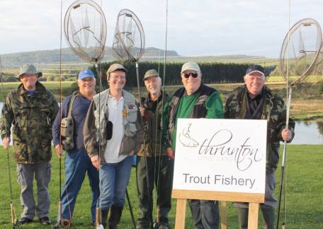 Some of the members of the Anchor Inn Fly Fishers Club who enjoyed their friendly competition