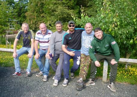 Some of the members of the Mill & Groom angling club who had an outing at Thrunton this weekend