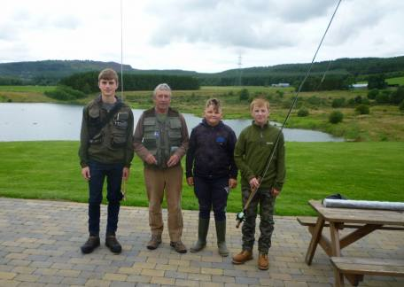 The CAST Level 3 Juniors before a demonstration of double handed casting by Barry Mitchell