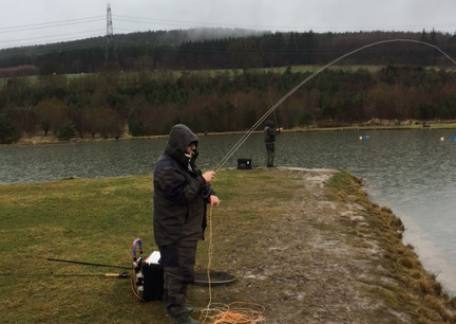 Alan Robinson from Lynemouth into another of his many fish