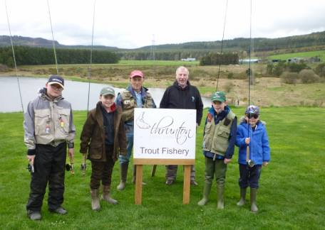 The Morpeth Chantry Trout Ticklers who attended some coaching this weekend at Thrunton