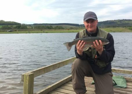 Jamie Scott from Alnwick with one of his fish that won the Oddfellows Angling Club competition