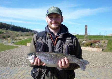 Connor Stoddart from Dipton landed this 4lb 5oz on a home tied black buzzer from Long Crag