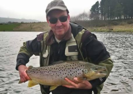 Paul Embleton from Co Durham netted this 15lb Brown from Long Crag - his personal best brown