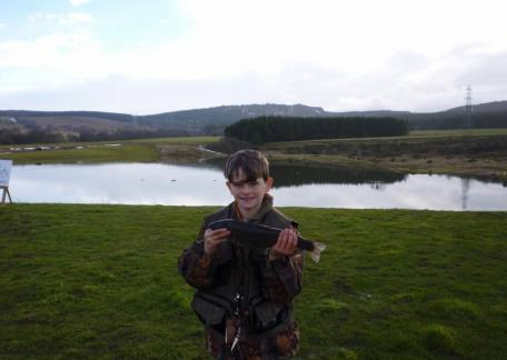 Thrunton Junior Jonathan Lister landed this 2lb 2oz rainbow from Coe Crag on a red buzzer