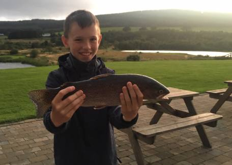 Harry Knox with one of his 3 wining fish