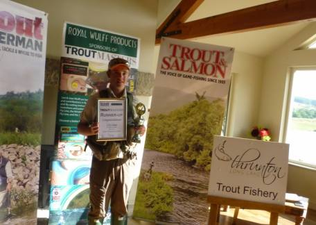 Elliot Guthrie representing Thrunton finished a close second in the UK Junior Troutmasters Final. Well done Elliot