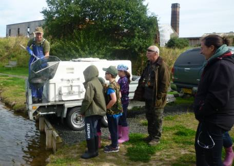 Some of the Junior starters group watching a recent fish stocking