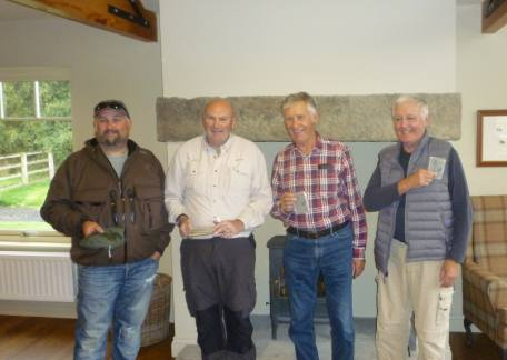 The prize winners from the Oddfellows Angling Club after their friendly outing
