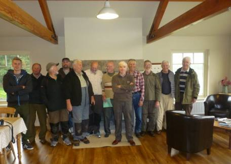 Some of the members of the Oddfellows Angling Club who enjoyed their competition and buffet at Thrunton this weekend