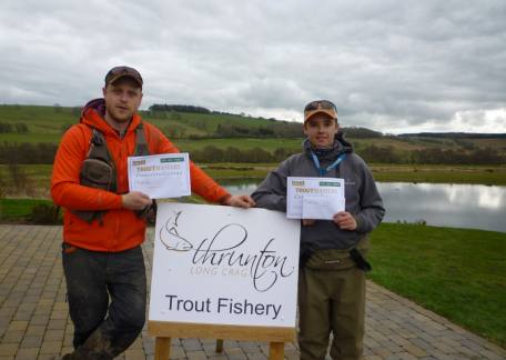 Ross Dixon, winner of the Senior Troutmasters Fish Off and Elliot Guthrie who won the Juniors