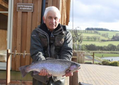 Terry Keenan from Pegswood landed this 7lb 4oz rainbow from Long Crag lake on a dawson's olive