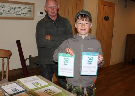 Joel Ellis with his Angling Trust CAST Awards