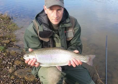 Rob Hall from Morpeth enjoyed his day returning 12 including this 8lb rainbow on a cats whisker