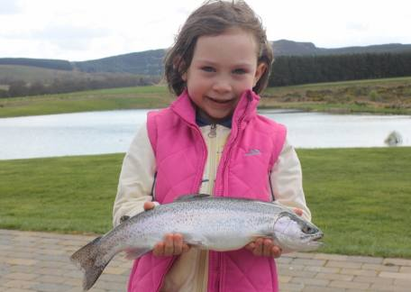 7 year old Floria Cimei from Dublin was delighted to match her brother with this 1lb 11oz rainbow