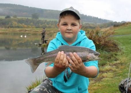 12 year old Jack Metcalf from Newbiggin delighted with this rainbow