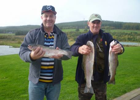 Brothers John & Michael Roper from Blyth delighted with their fish, especially John's first ever trout caught on a fly
