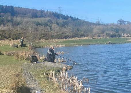 Paul Snaith playing one of his fish on Saturday