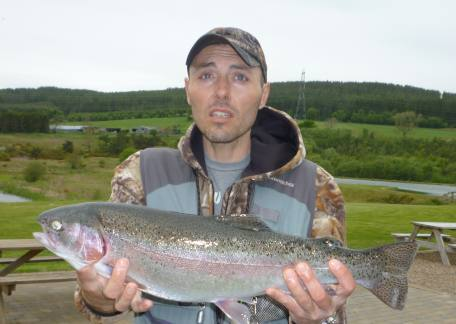 Another cracking Rainbow from Long Crag for David Wafer caught using a Black Gnat