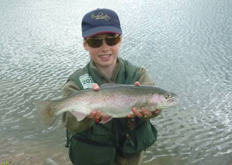 Thrunton Junior Joel Ellis delighted with another fish landed during a Junior session this week