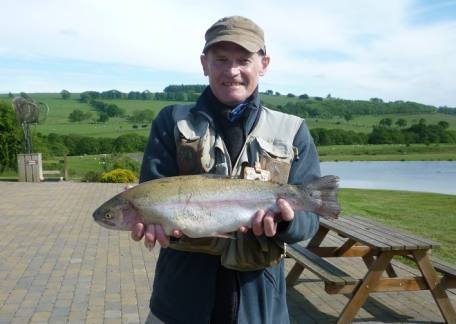 Ian Richardson from New Hartley used a black fritz to net this 4lb 5oz trout from Long Crag