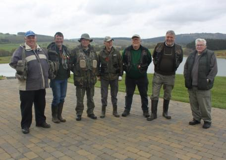 Some of the members of the Anchor Fly Fishers who had a mini competition at Thrunton