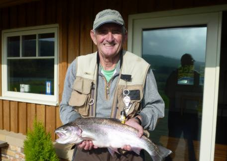 Barry Miller from Stockton landed this 5lb 11oz rainbow on a daddy from Long Crag lake