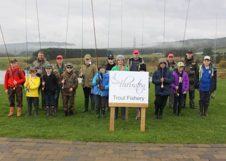 The Morpeth Trout Ticklers before their instruction with Barry Mitchell (barrymitchellfishing.co.uk) and his fellow coaches