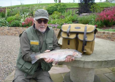 Chris Deathe from Longframlington landed this 5lb 12oz rainbow from Long Crag lake on a black CDC
