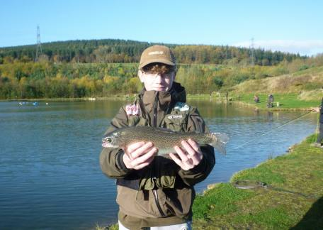 Thrunton Junior Jay McEwan with his second fish and eventual winner of the Junior Competition