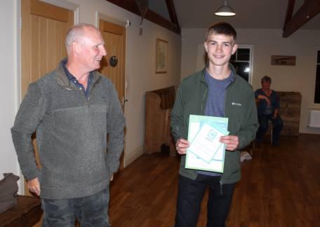 Joe Dewhirst receiving his CAST Awards