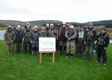 The anglers who took part in the first Fritz 'n' Flies heat at Thrunton this weekend