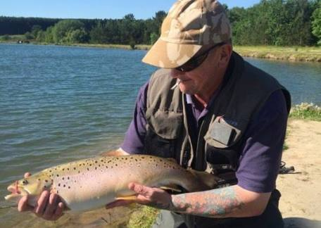 Davy Kay from Morpeth who safely returned this 10lb brown on a red chamois