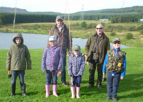 Another group of new anglers with coach Steve McCann
