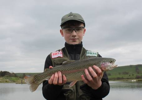 Jay McEwan from Alnwick netted his first fish during a coaching session with Steve McCann