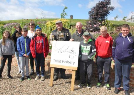 Pupils from Tanfield School in Stanley who enjoyed their fishing with coach Steve McCann and helper Len Broxon